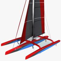 3d model of ultim class trimaran