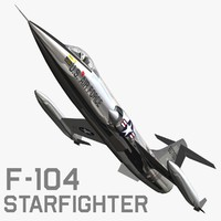 f104 starfighter fighter 3d model