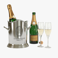louis roederer champagne bucket 3d model