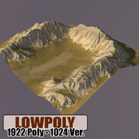 Lowpoly Mountain HL62