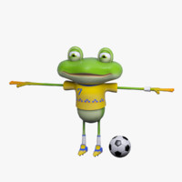 3d model cartoon character mr froggy