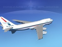 3ds max 747-100 airline boeing 747