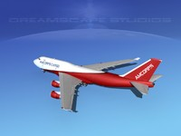 3ds max airline boeing 747-400 747 aircraft
