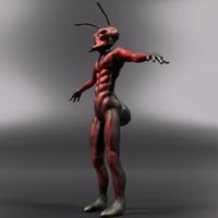 3d soldier ant model