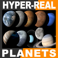3d model of hyper-real planets