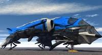 3d sci-fi aircraft model