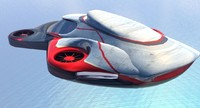 flying futuristic car obj