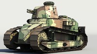 3d renault ft17 light tank