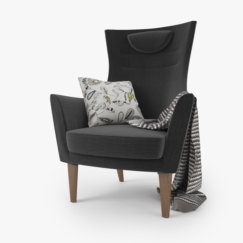 3d model ikea stockholm chair seat - Ikea chaise stockholm ...