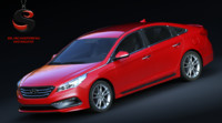3d hyundai sonata 2015 model