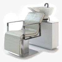 salon air chair 3d max