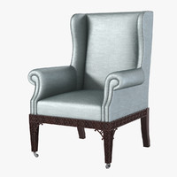 3d baker guinness wing chair
