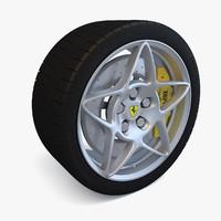 3d sport wheel tire brake disk