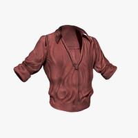 red shirt 3d max