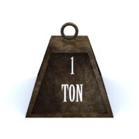 1ton metal 3d obj