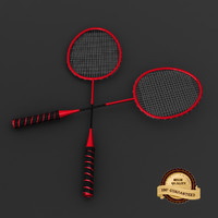 3d model racquet modeled