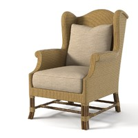 max baker rattan wing chair
