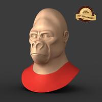 3d gorilla