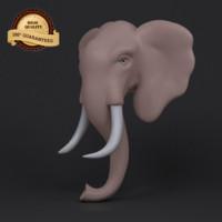 3d model elephant statue