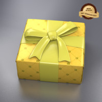 giftbox holidays birthdays 3d model
