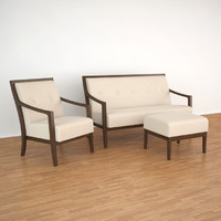 millenium accento armchair sofa 3d model
