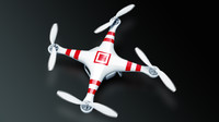 quadcopter phantom 2 3d model