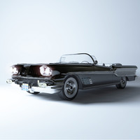 3d model pontiac bonneville 1958