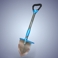 3d model of shovel hi-tech