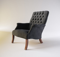 3d model armchair william spooner