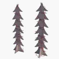 modern wooden tree christmas 3d max