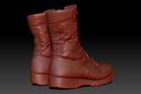 desert storm boots 3d obj