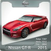 nissan gt-r 2015 3d model