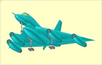 B-58 (Rev) Hustler Aircraft Solid Assembly Model