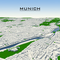 munich cityscape 3d model