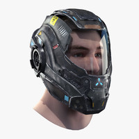 helmet head 3d model