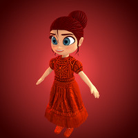 princes cartoon 3d model
