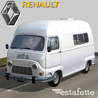 3d model of renault estafette