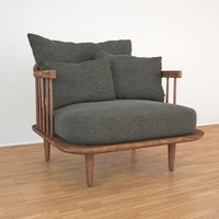 fly lounge tradition armchair 3d max