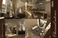 3ds max interior classic house