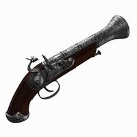 flintlock pistol 3d max
