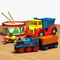 3ds max toys plane drum