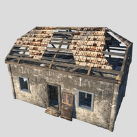 3ds max destroyed house