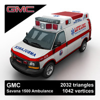 2012 gmc savana ambulance 3d 3ds