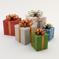 gifts holidays 3d max