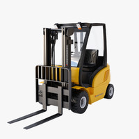 3d model forklift linear workflow