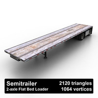 Semitrailer Flat Bed Loader