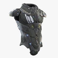 3d sci fi armor model