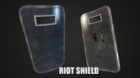 3d model riot shield
