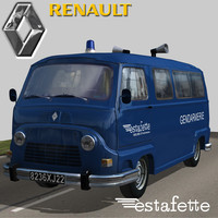 renault estafette gendarmerie 3d model
