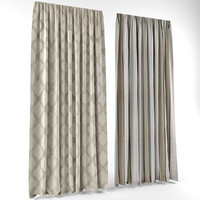 3d model of curtains modern style